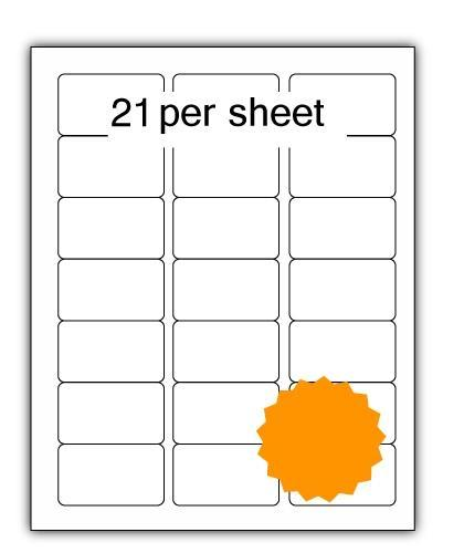 ULL21O - A4 Label Orange 64x38.1mm 21 up (100 Sheets)