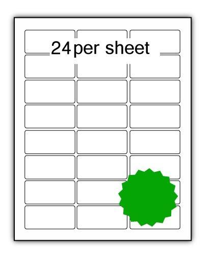 P62.33G - A4 Label Green 62x33mm 24 up (200 Sheets)
