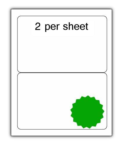 ULL2G - A4 Label Green 200x144mm 2 up (100 Sheets)