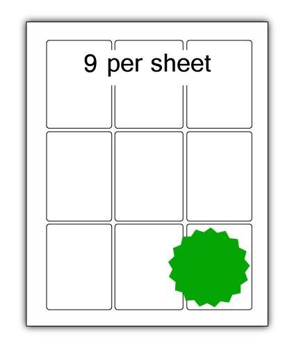 P63.88G - A4 Label Green 63x88mm 9 up (200 Sheets)