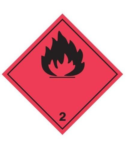 "HZ230P - Hazard Label ""FLAMMABLE GAS"" 100x100mm (250 Labels per Roll)"