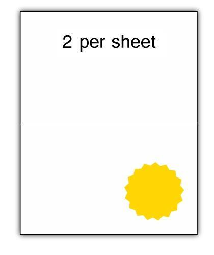 CLO2Y - A4 Label Yellow 210x148.5mm 2 up (100 Sheets)