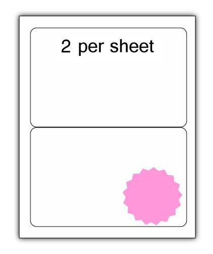 ULL2PK - A4 Label Pink 200x144mm 2 up (100 Sheets)