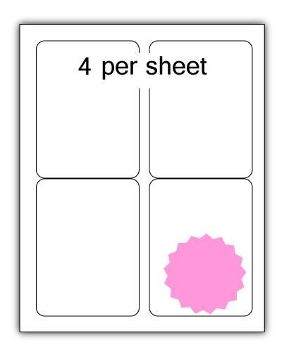 ULL4PK - A4 Label Pink 99x139mm 4 up (100 Sheets)