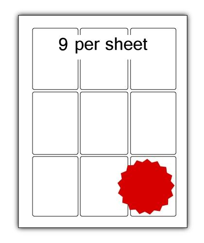 P63.88R - A4 Label Red 63x88mm 9 up (200 Sheets)