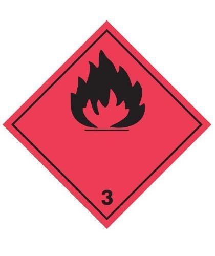 "HZ231P - Hazard Label""FLAMMABLE"" 100x100mm (250 Labels per Roll)"