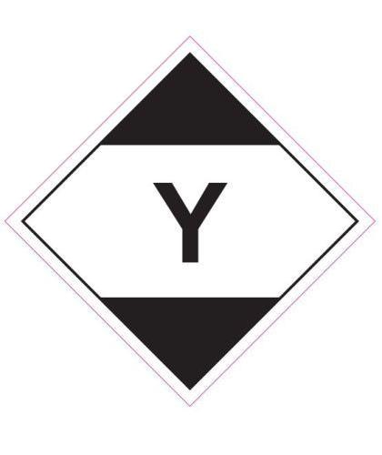 "HZ1019 - Hazard Label ""Y"" 100x100mm (250 Labels per Roll)"