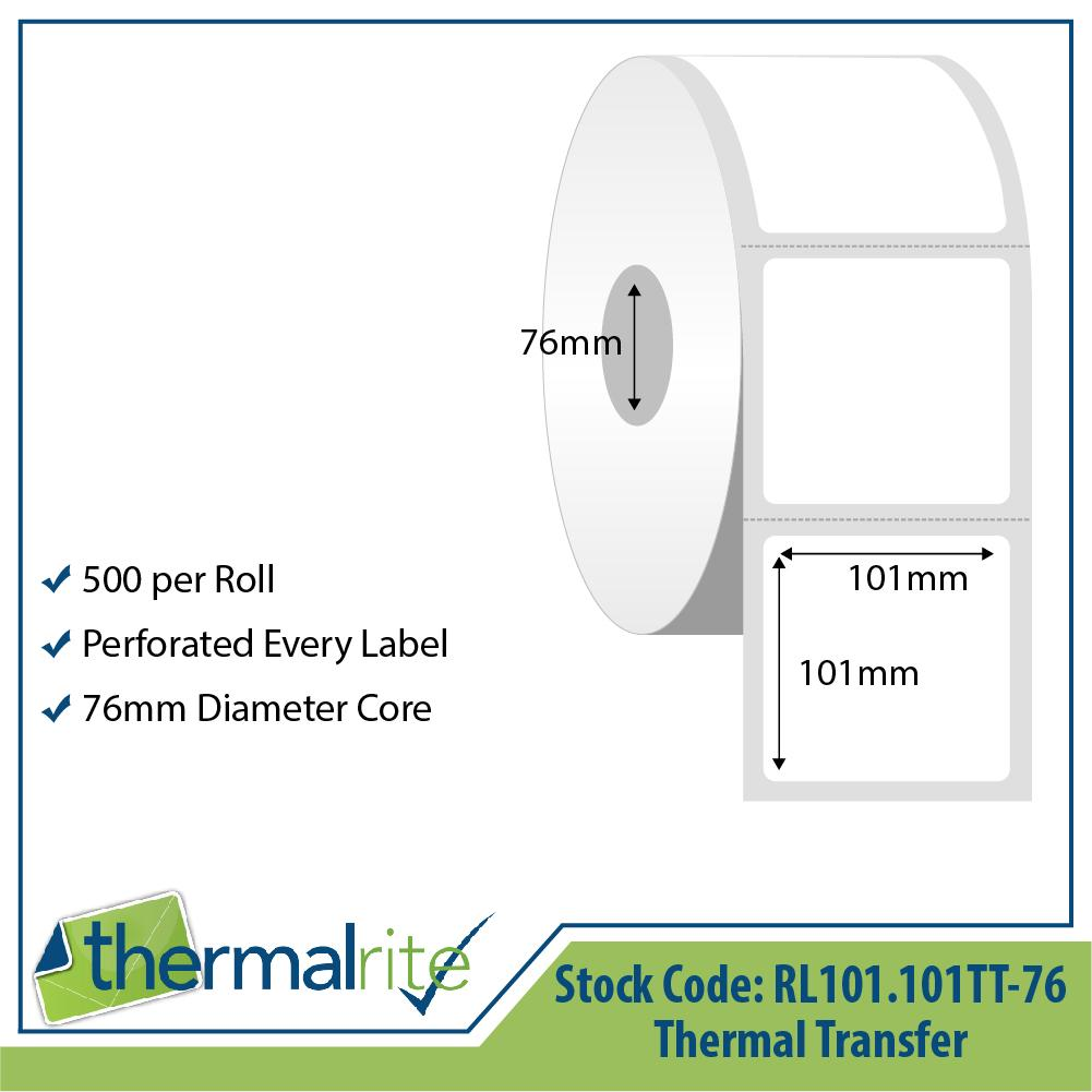 Thermalrite Thermal Transfer Labels 101x101mm