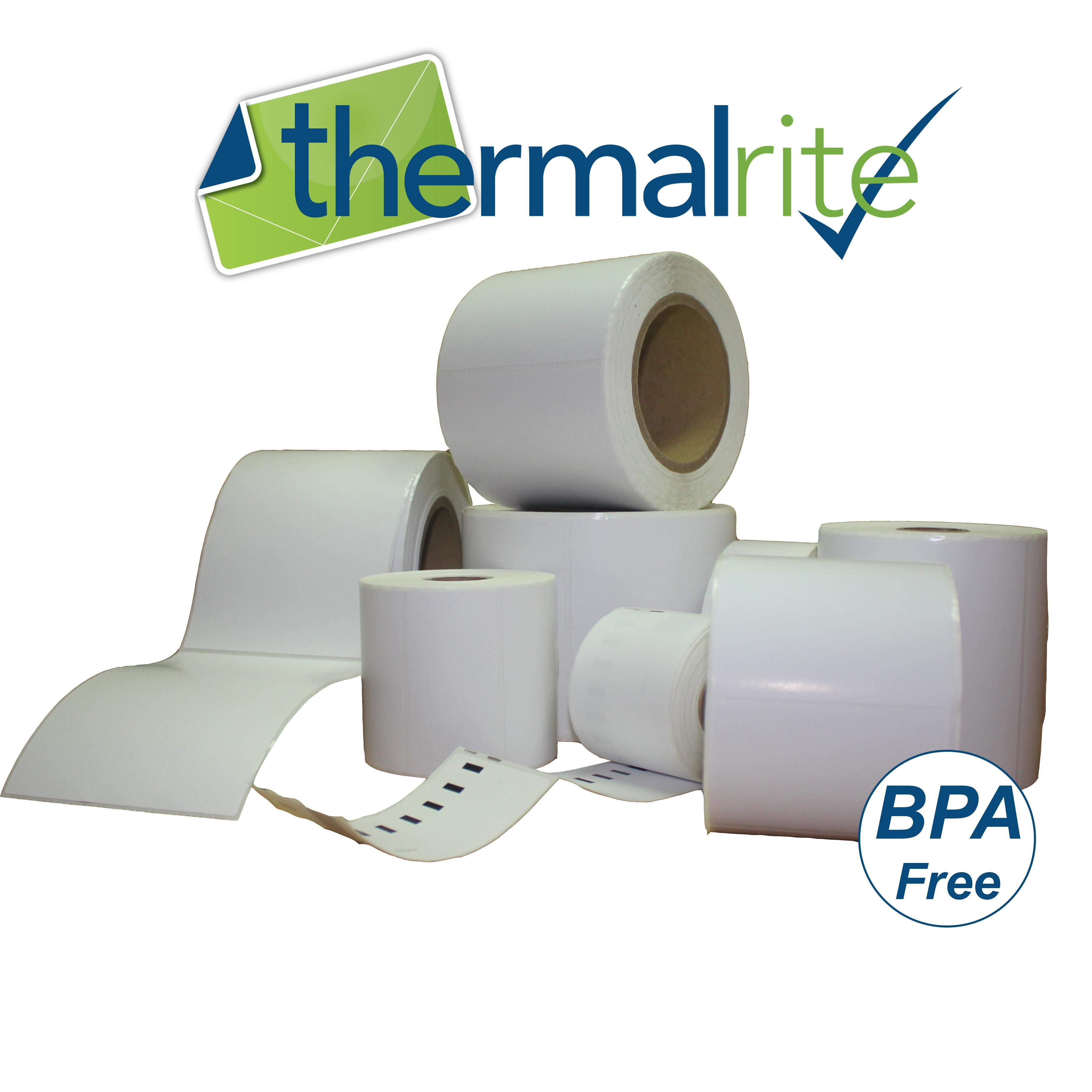 Thermalrite Roll Labels 76x36mm Direct Thermal Top