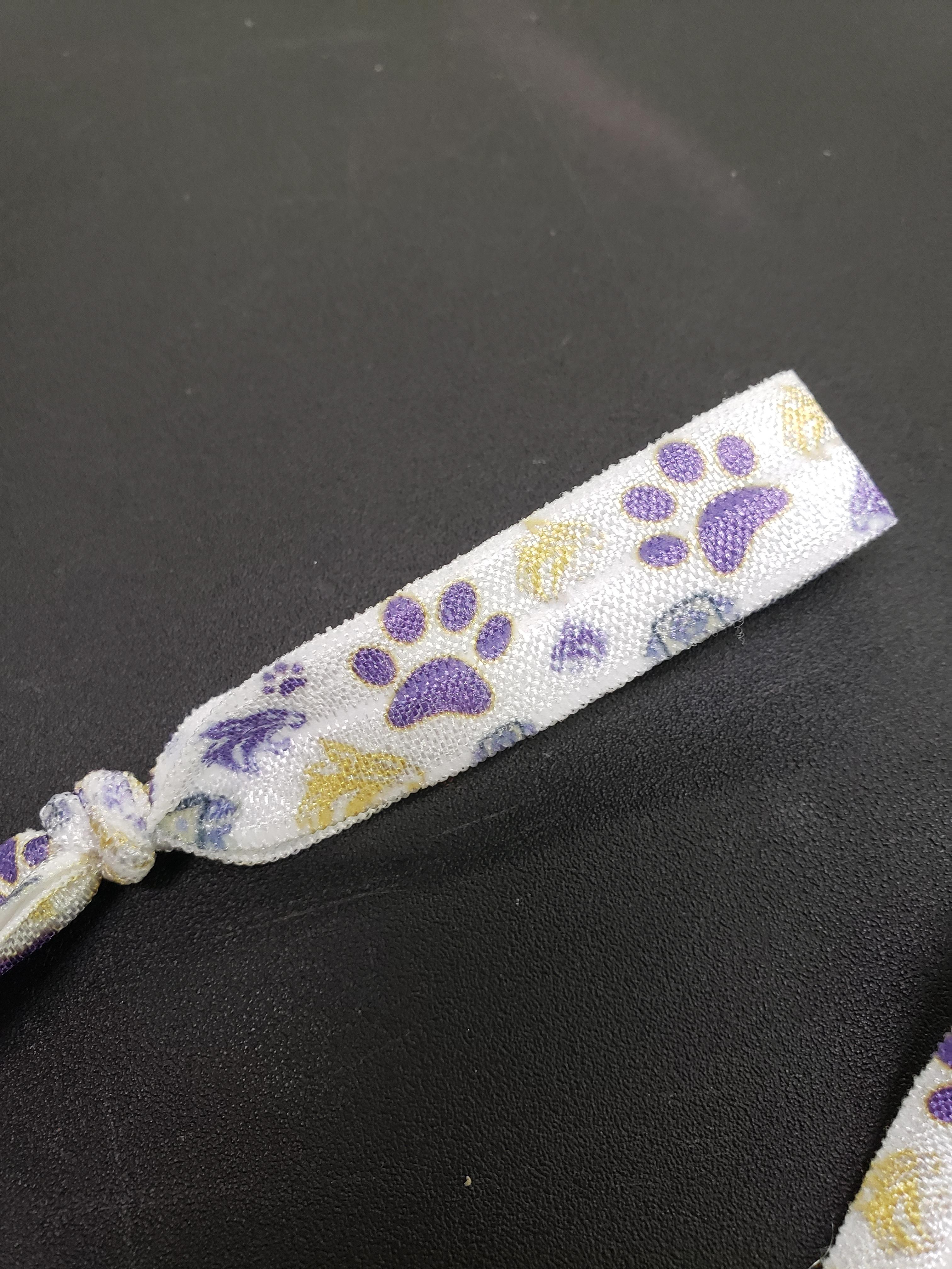 hair ties, personalized, wildcats, cougars, panthers, cheer
