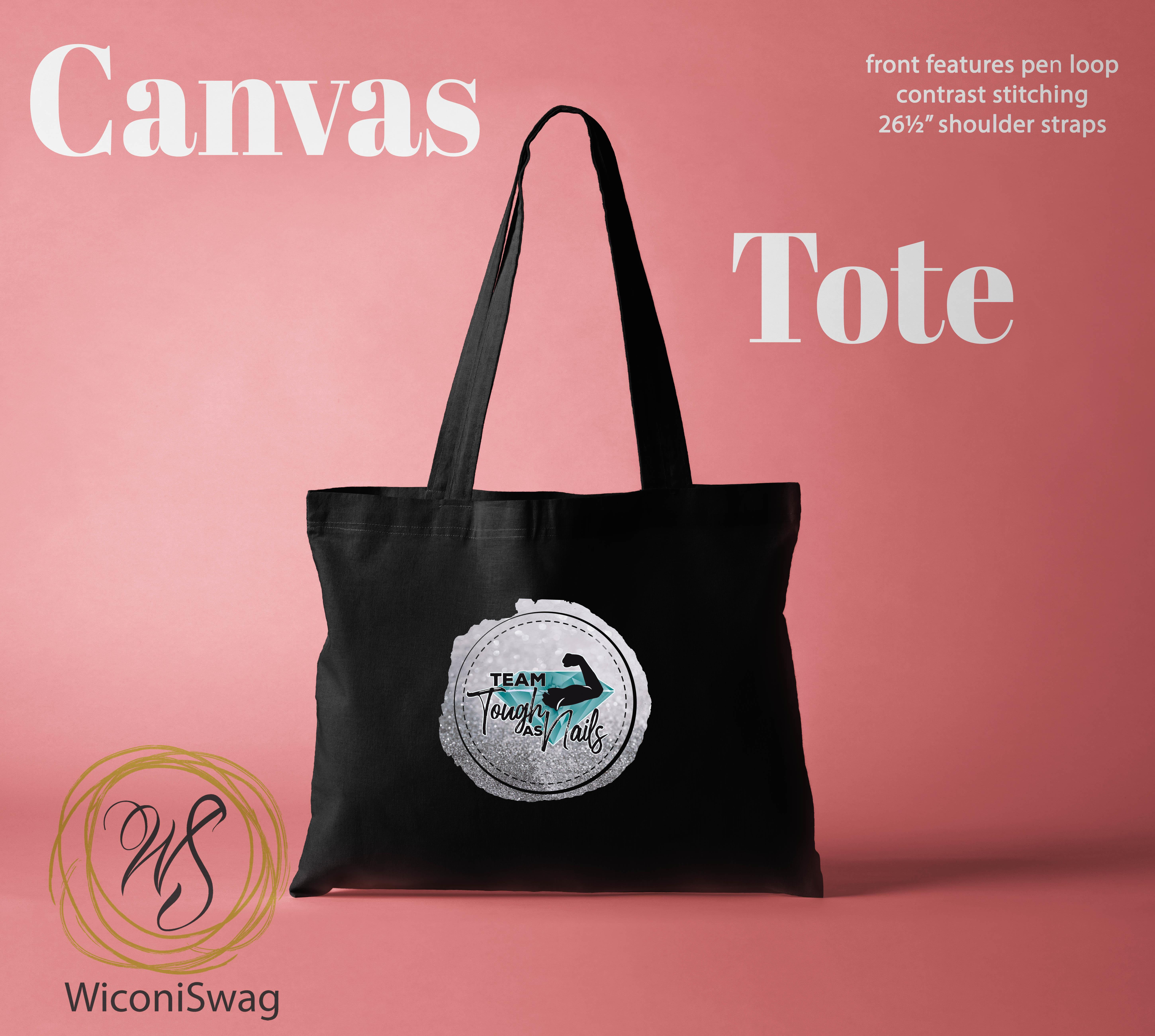 canvas tote, toughAsNails, color street
