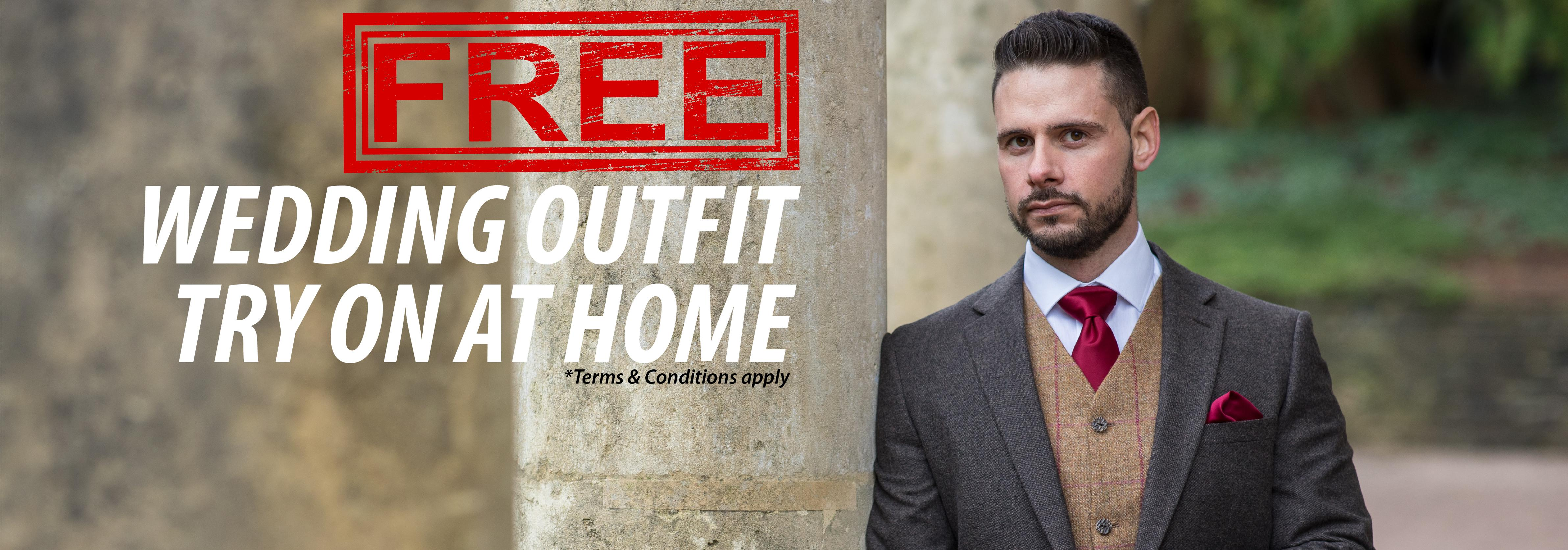 Try on a hire outfit at home free of charge before you hire.