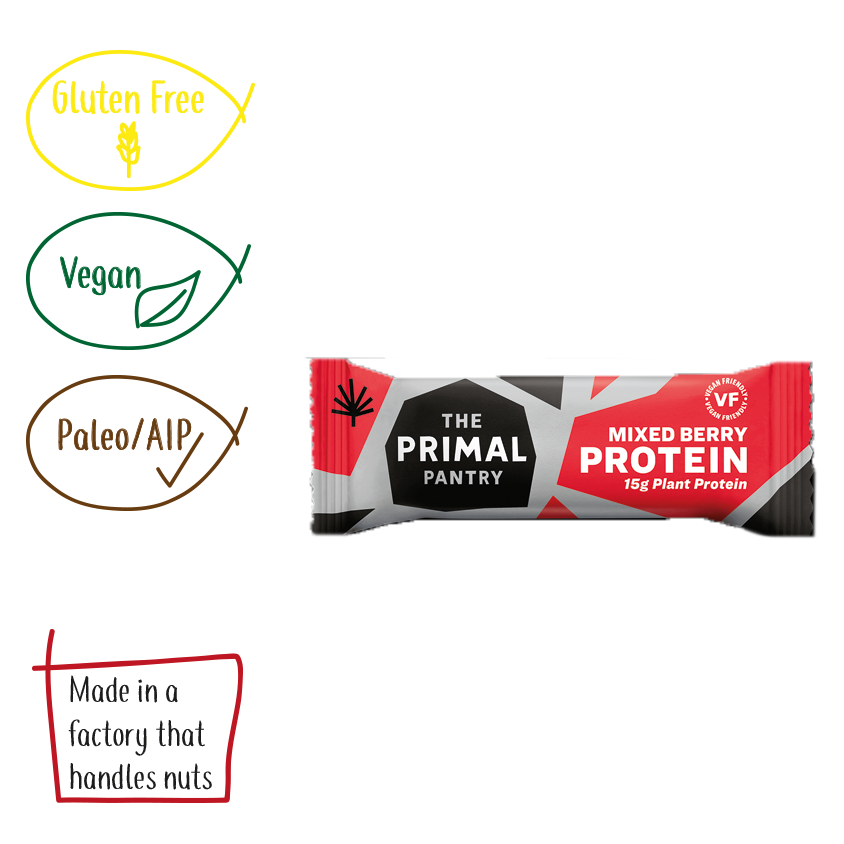 The Primal Pantry Mixed Berry Paleo Protein Bar