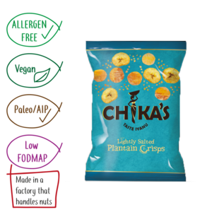 Chikas Hand Cooked Plantain Chilli Crisps