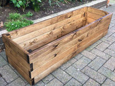 Errol Redwood Rectangular Planter (Large)