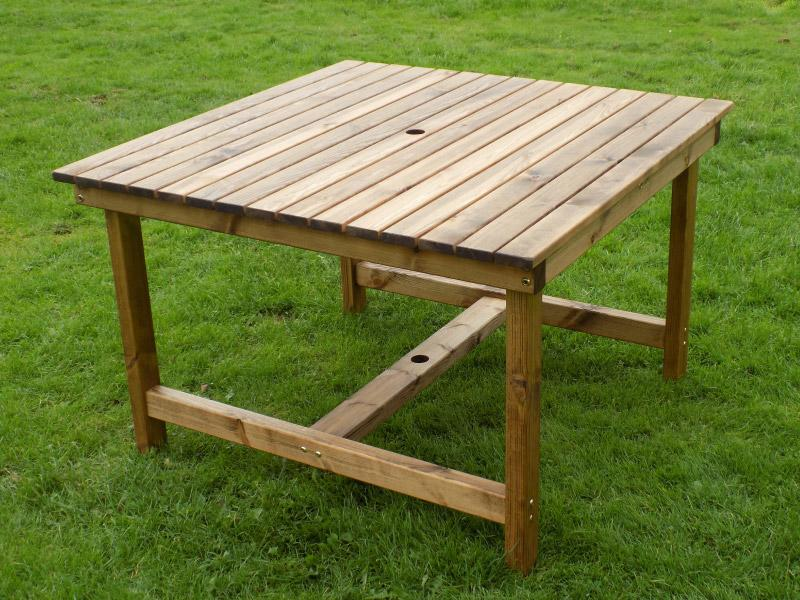 Square Garden Table L115cm