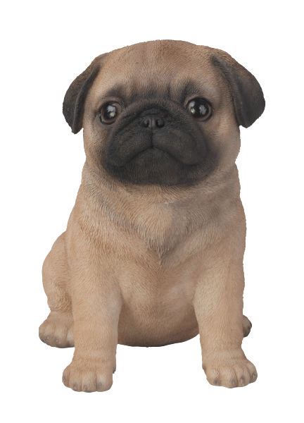 Vivid Arts Pet Pals Pug Brown with black accents Puppy