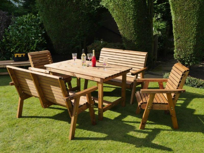 Dales 1.35m Rectangular Four or Six Seater Garden Table Sets