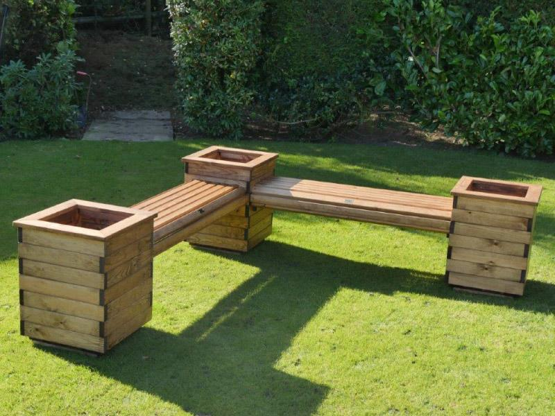 Errol Redwood L Planter Seat