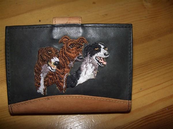 Soft leather paper money and credit card holder