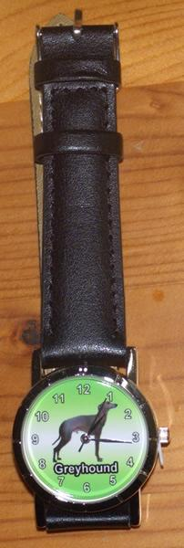 Greyhound Watch with Leather Strap