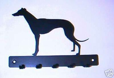 Standing Greyhound Whippet key/lead hook holder