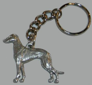 Greyhound - DOG Keychain - Fine Polished Pewter ke