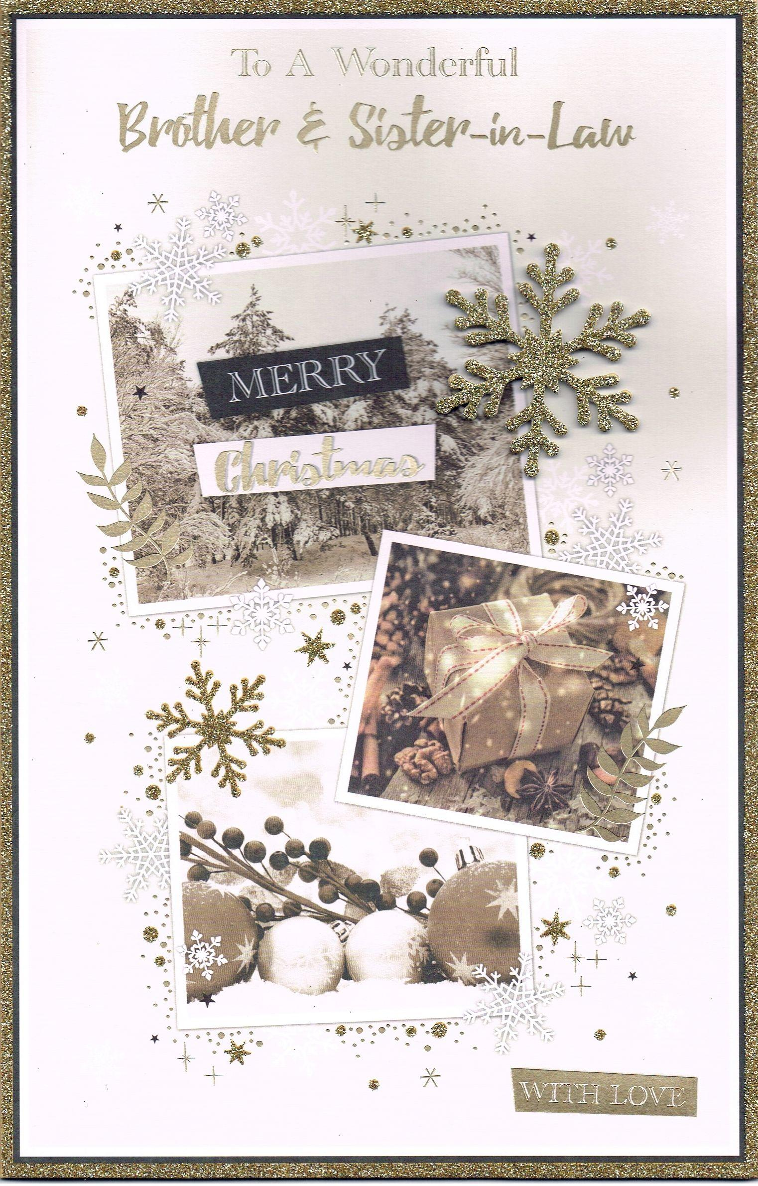 Just for you Foil Glitter Colour inside For my amazing Partner Christmas card
