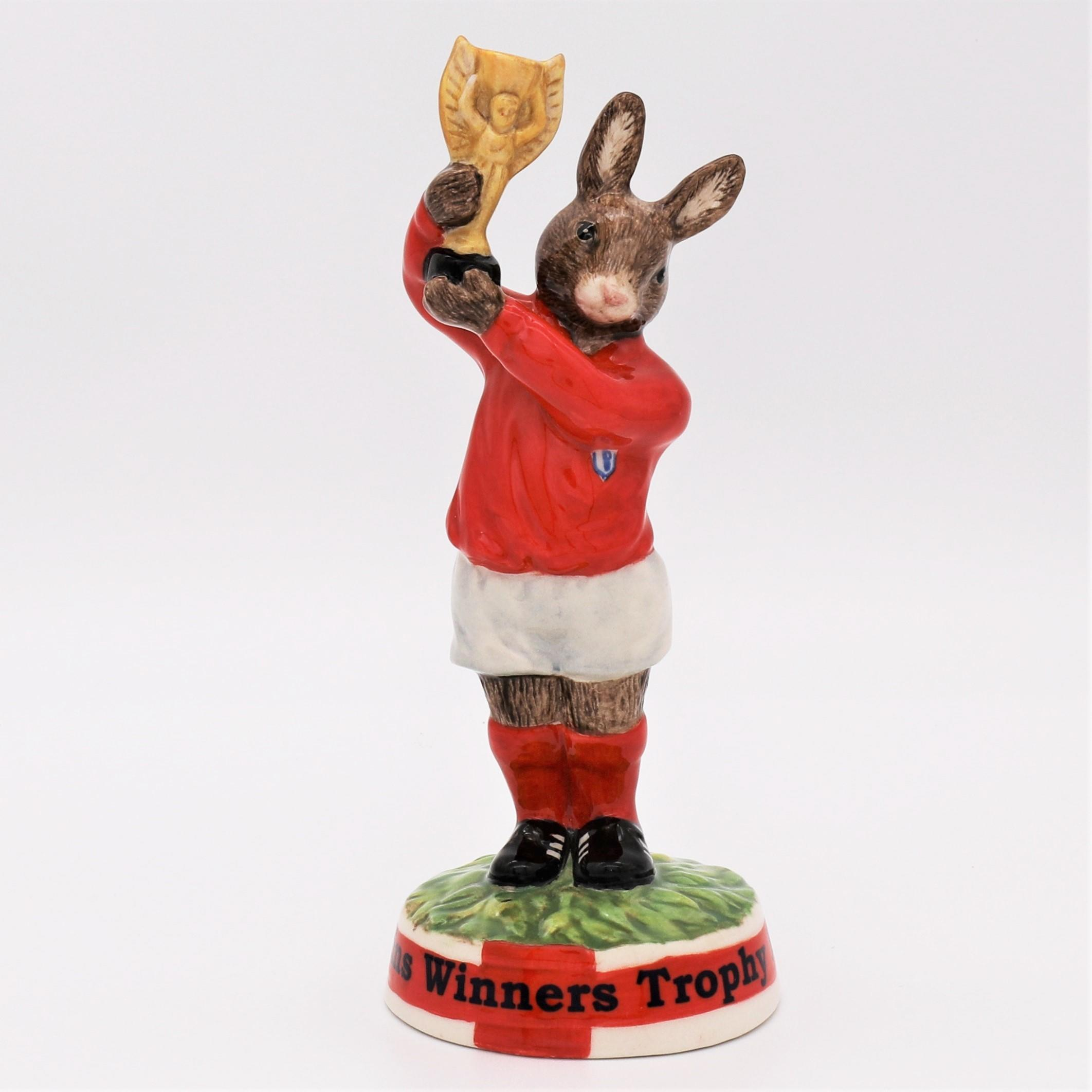 Royal Doulton Bunnykins figure - DB410 Winners Trophy 1966 front