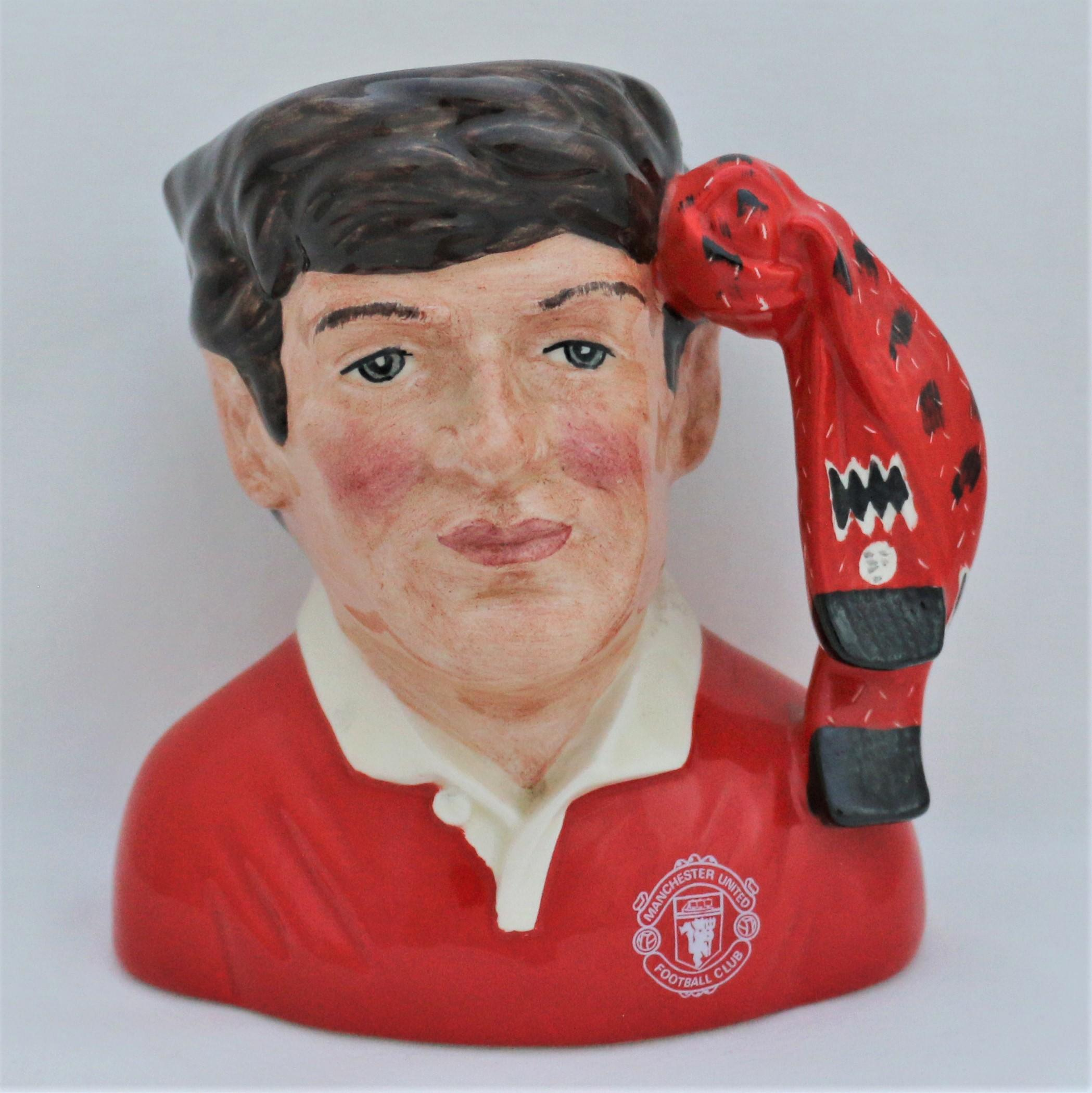 Royal Doulton D6924 Manchester United Football Supporter Character Jug - front