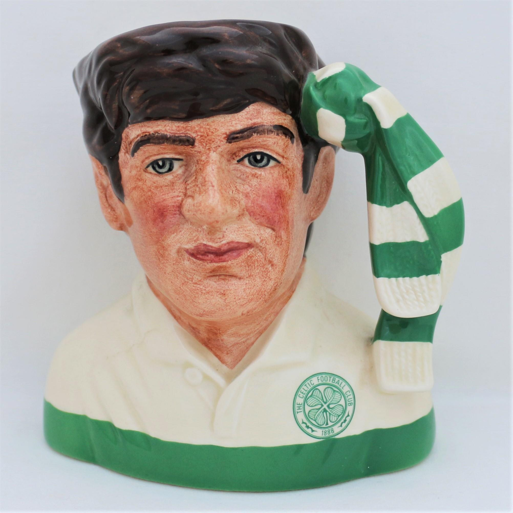 Royal Doulton D6925 Celtic Football Supporter Character Jug - front