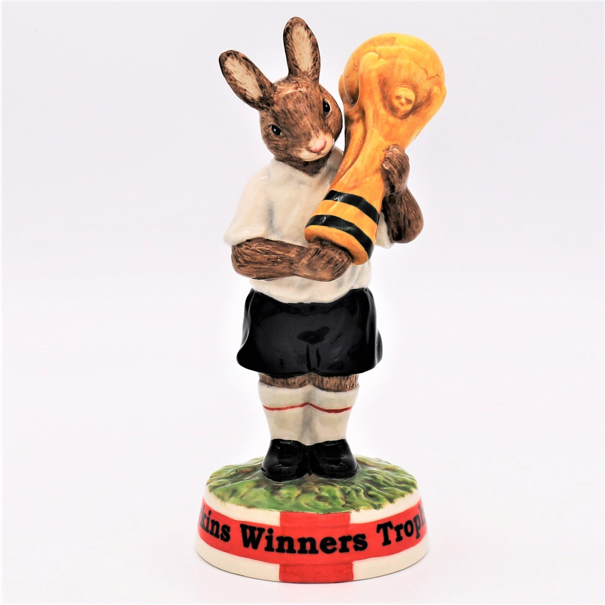 Royal Doulton Bunnykins figure - DB409 Winners Trophy 2006 front
