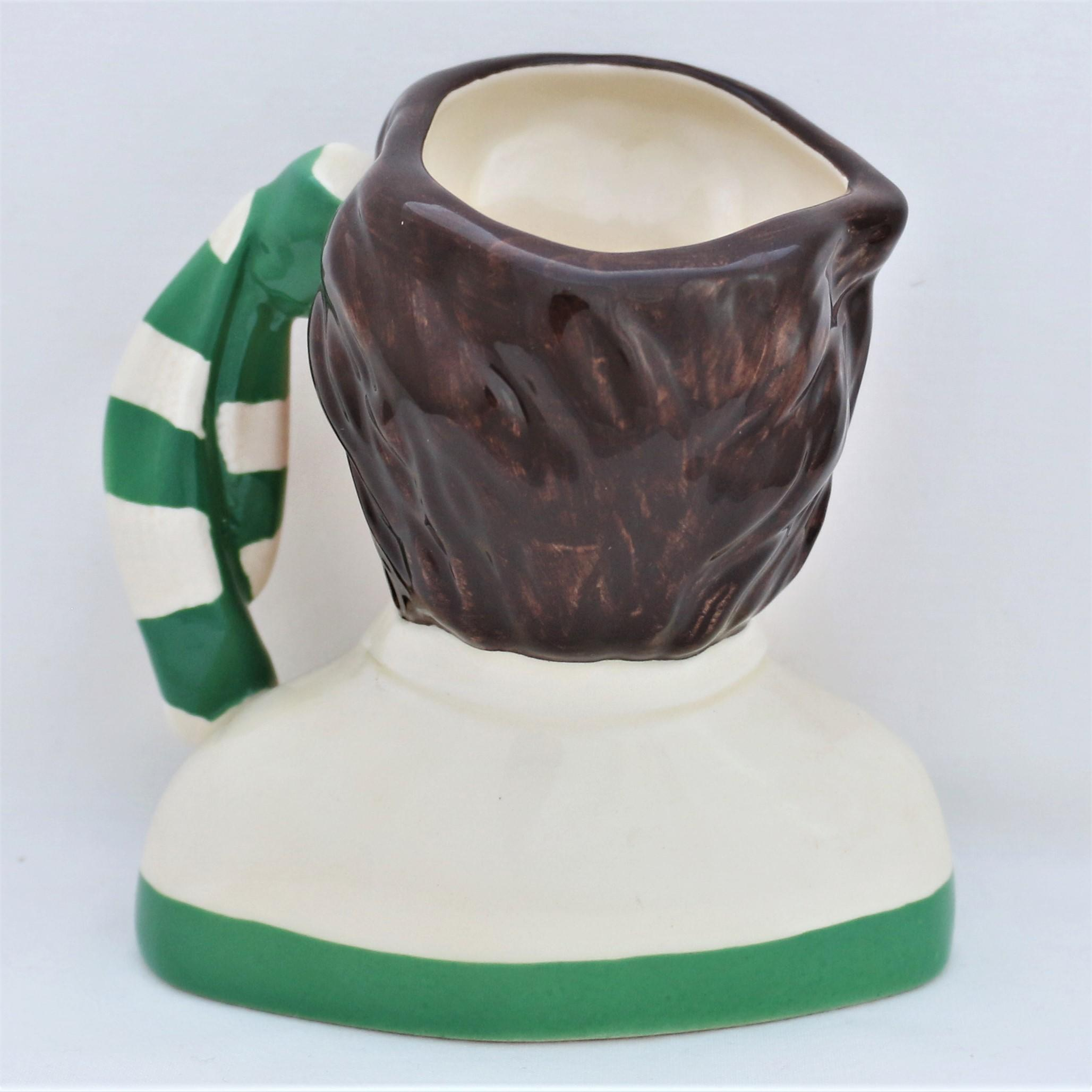 Royal Doulton Celtic Football Supporter Character Jug D6925 back