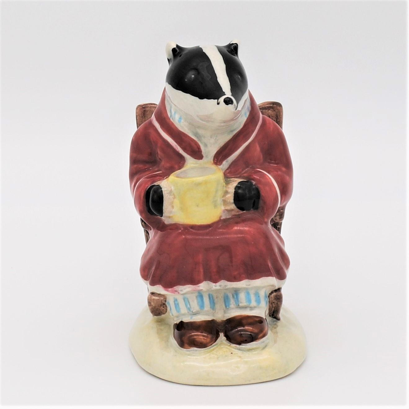 Royal Albert Wind In The Willows figure AW2 Badger front