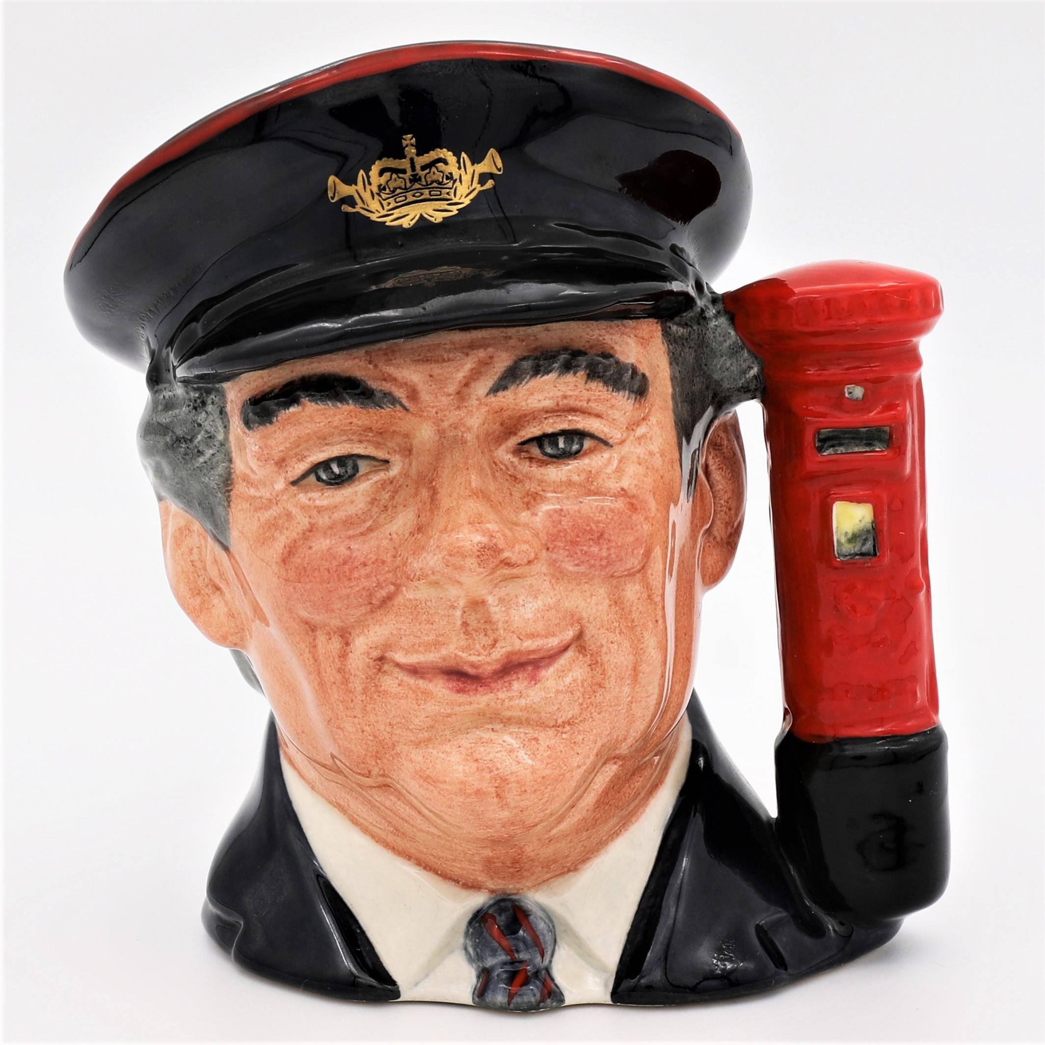 Royal Doulton D6801 The Postman Character Jug - front