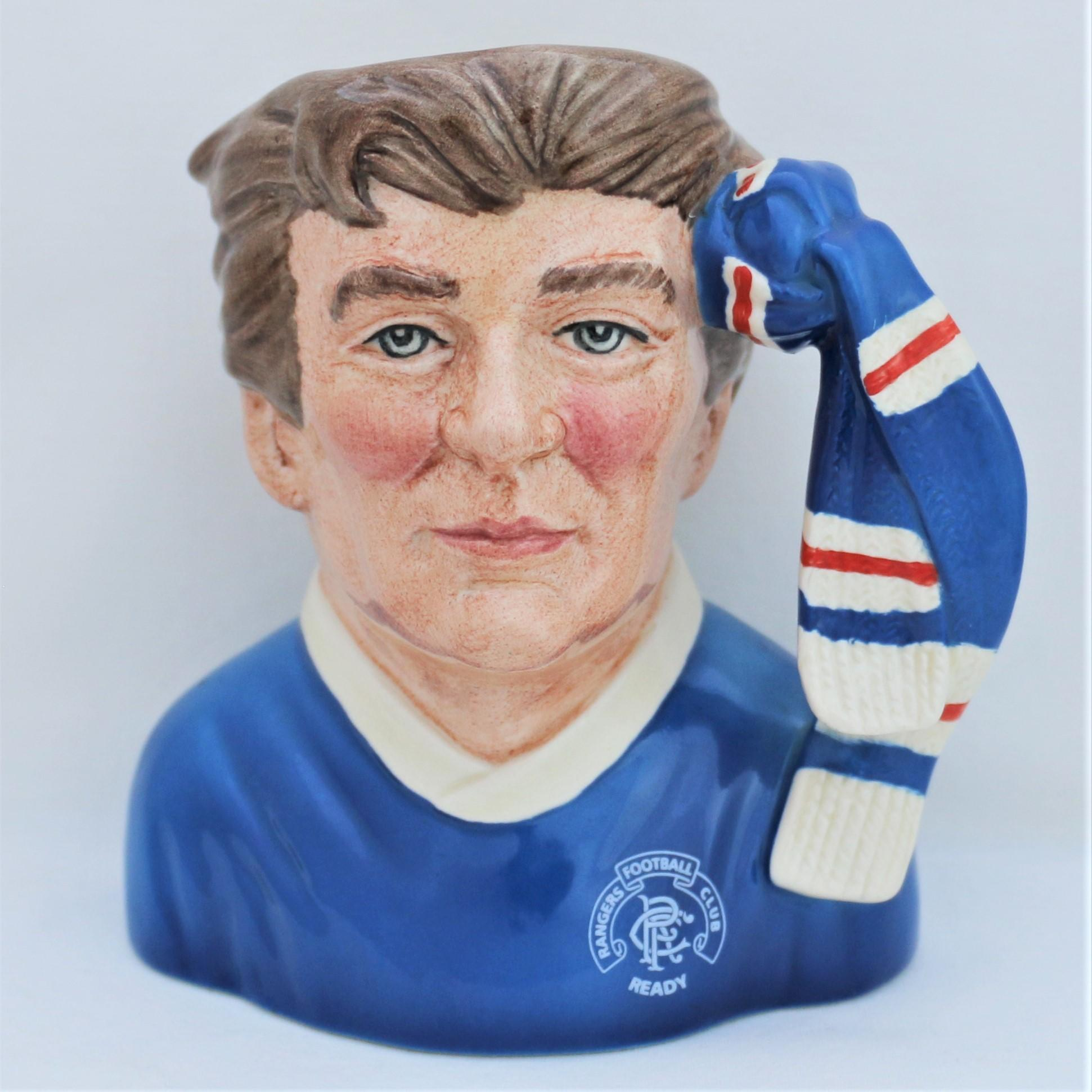 Royal Doulton D6929 Rangers Football Supporter's Character Jug - front