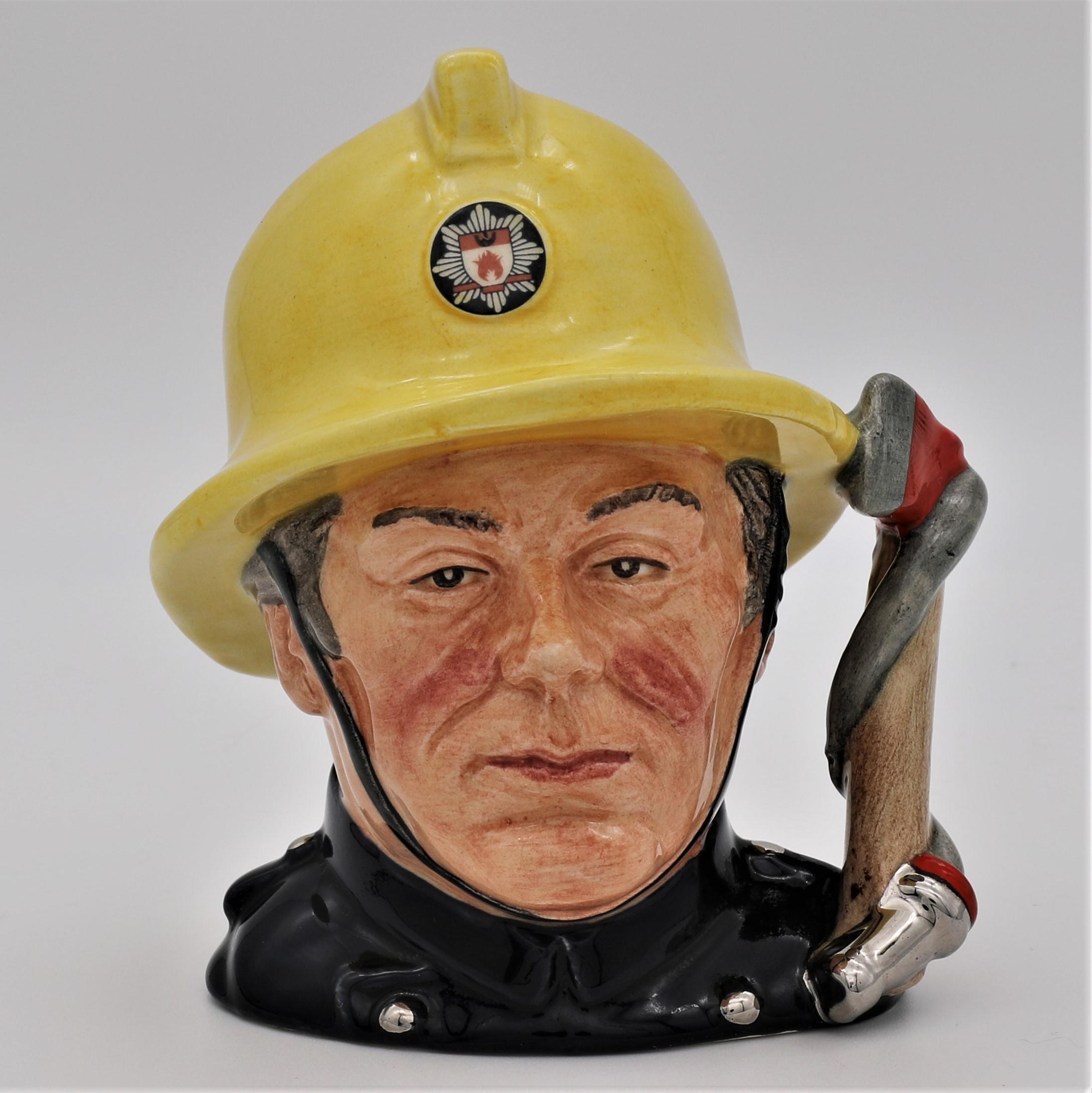 Royal Doulton D6839 The Fireman Character Jug - front