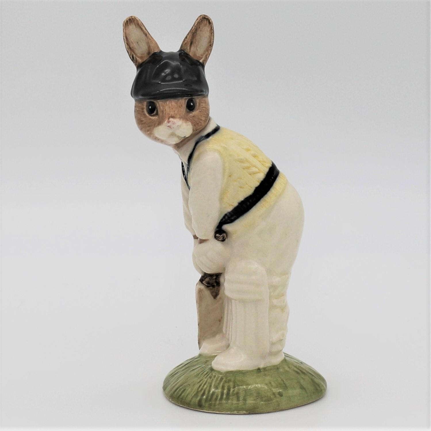 Royal Doulton Bunnykins cricket figure - DB144 Batsman front