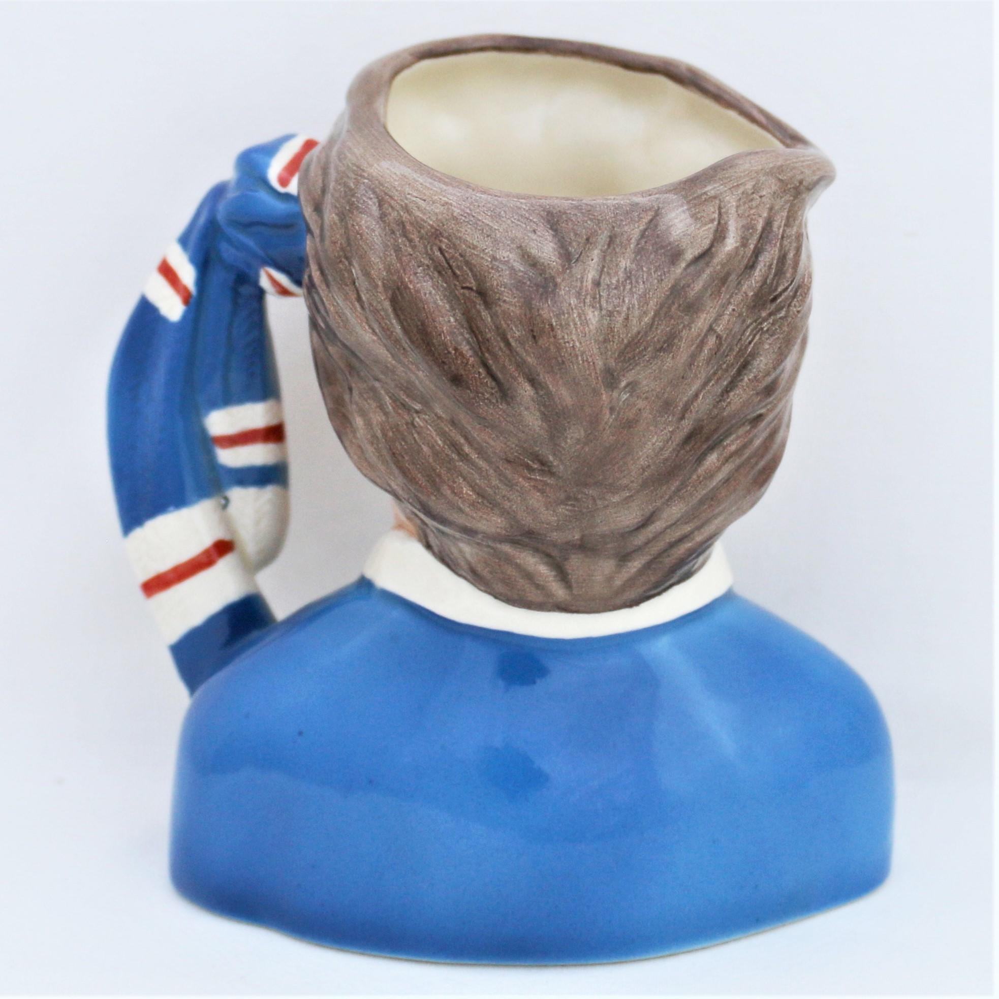 Royal Doulton Rangers Football Supporter's Character Jug D6929 back