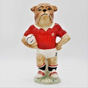Kevin Francis Bulldog Footballer in Manchester United Colours - front