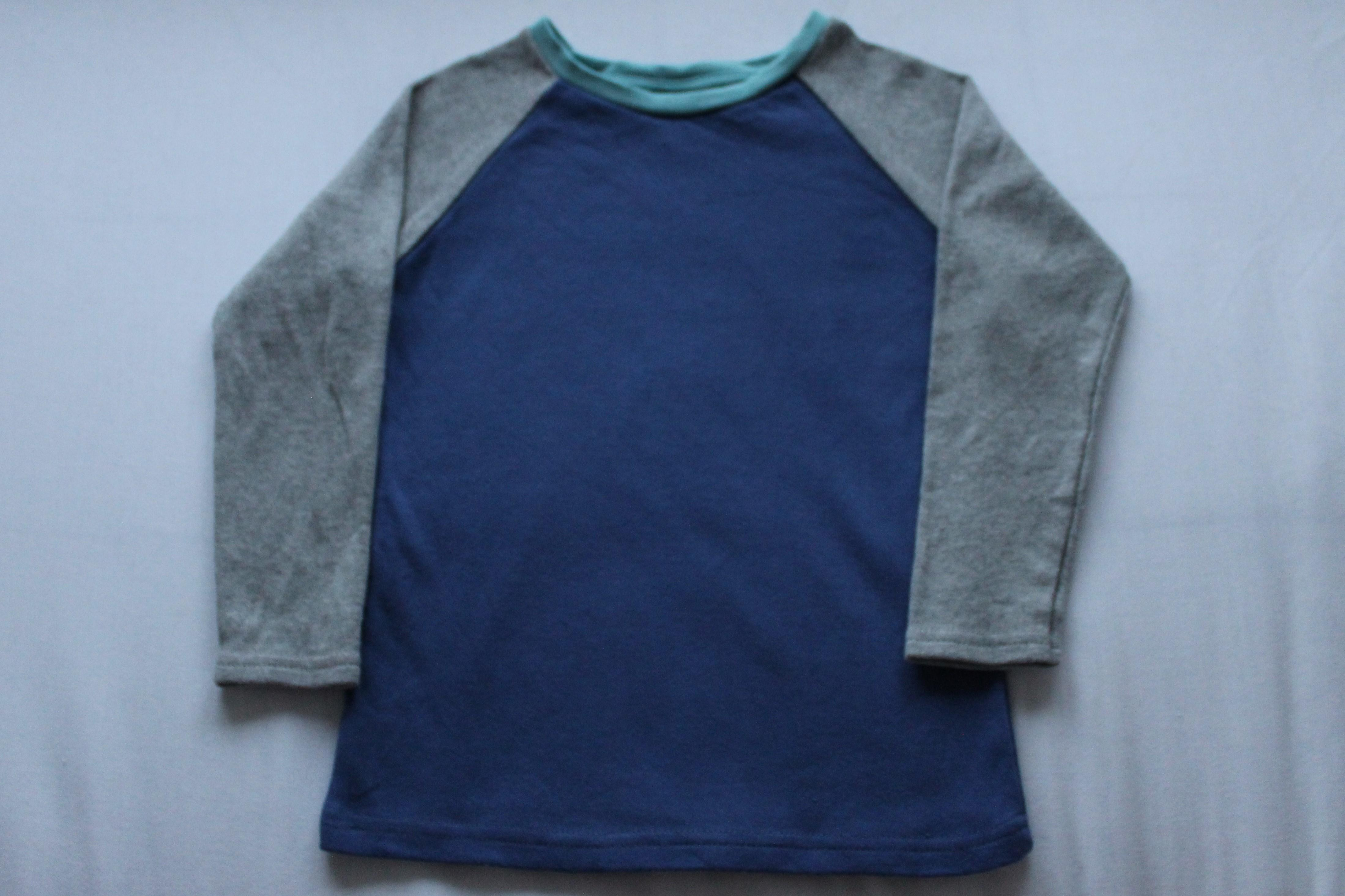 Sample sale KIT Clothing blue / grey long sleeve t-shirt 4-5 years