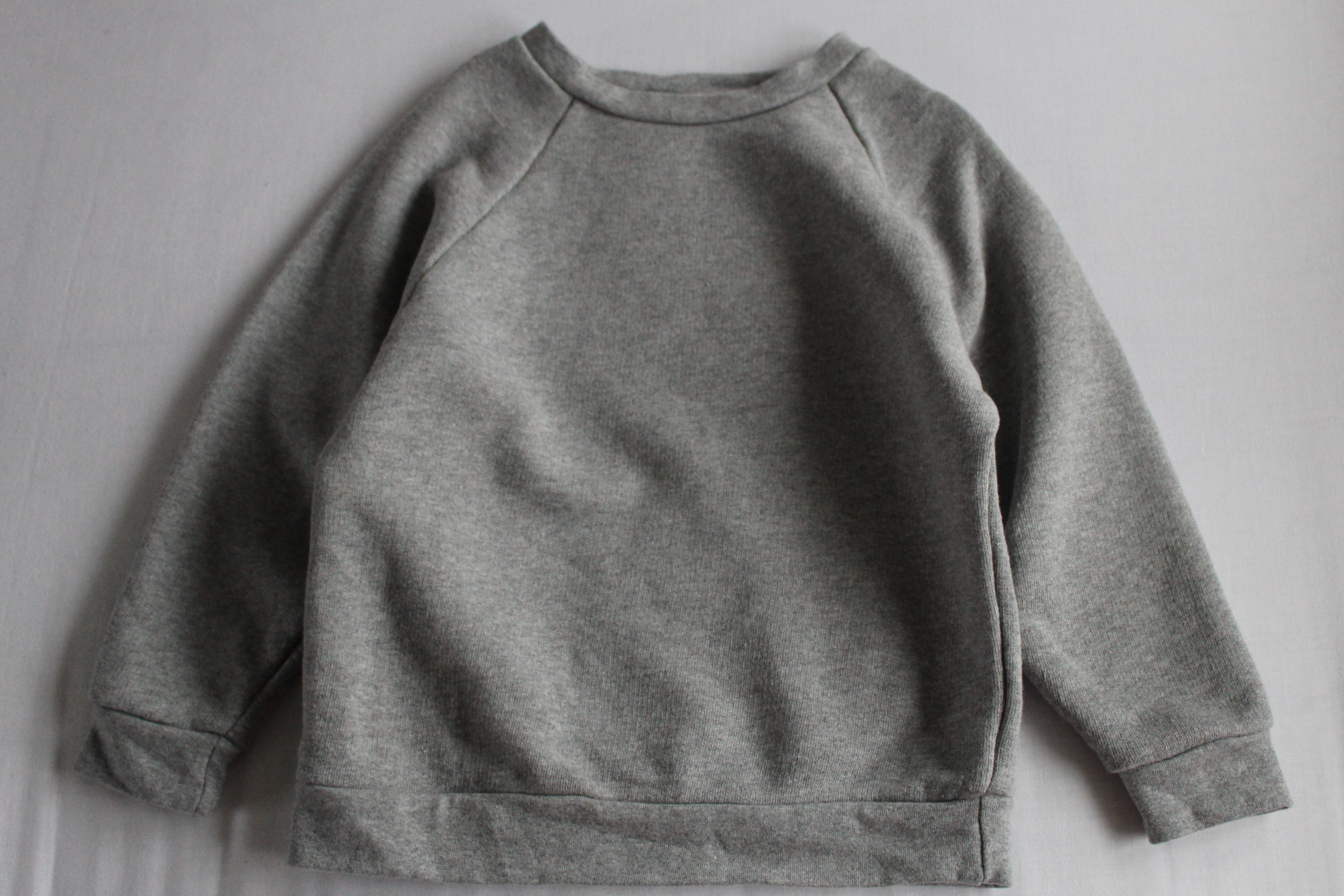 Sample sale KIT Clothing grey marl sweatshirt 4-5 years