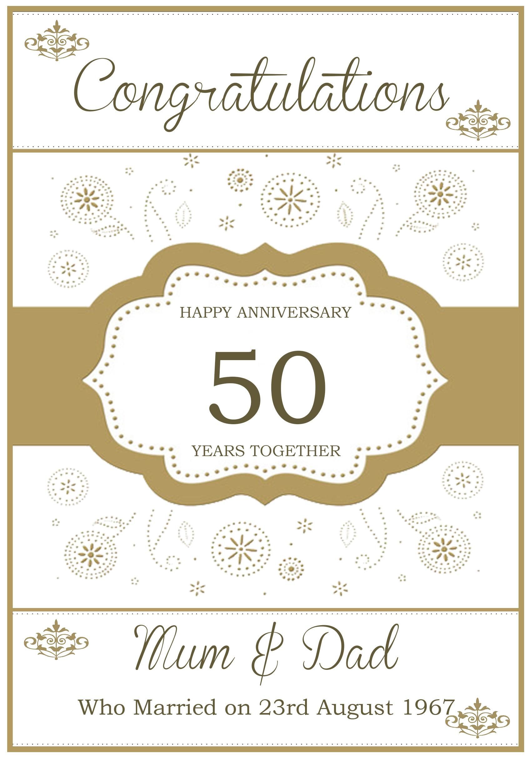 Golden Celebrations Anniversary Card