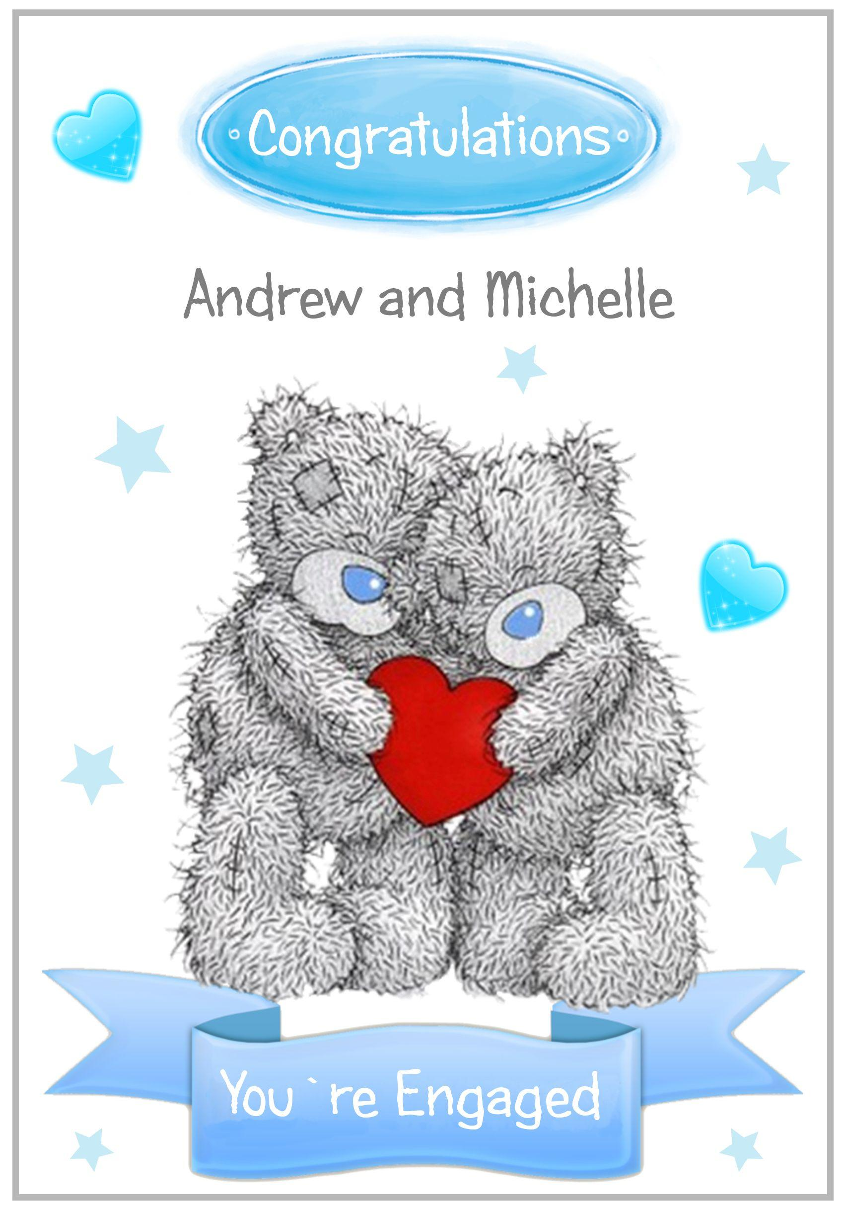 Scruffy Teddies Engagement Card