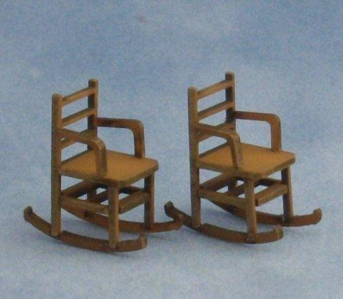 Quarter scale Two LadderBack Rocking Chairs Kit