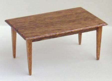 1/24th scale Handmade Dining or Kitchen Table with Straight Legs