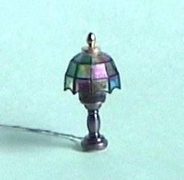 1/24th scale Dolls House Stained Glass Tiffany Lamp