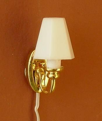 1/24th scale Dolls House Modern Shade Wall Light