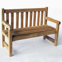 1/24th scale Wooden Garden Bench Kit
