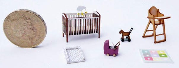 Accessories for quarter scale Baby Shop